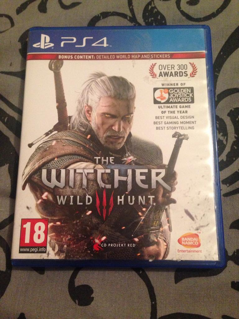 PS4 the witcher wild hunt game
