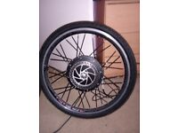 26 inch electric front wheel.good working order