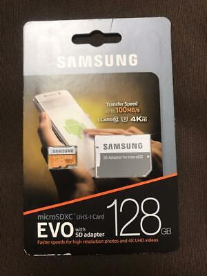 Samsung 128GB 100MB/s  MicroSDXC EVO Memory Card w/ Adapter