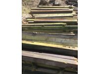 "Quantity of used 4x4"" & 3x3"" fence posts up to 6ft long"