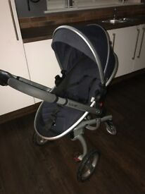 Silvercross Surf, Navy, 3 in 1, Pram, Push Chair and Car Seat