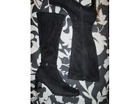 BLACK BOOTS WITH SMALL BUCKLE ON ANKLE SIZE 3 FROM BHS NEW RRP £40