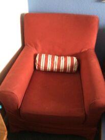 IKEA Jennylund chair with stripe cushion