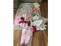 Baby girl clothes bundle,0-12months (230 items)