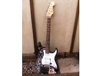 Modded Fender Strat Style C-Giant Custom Indie Guitar with bag tremolo arm