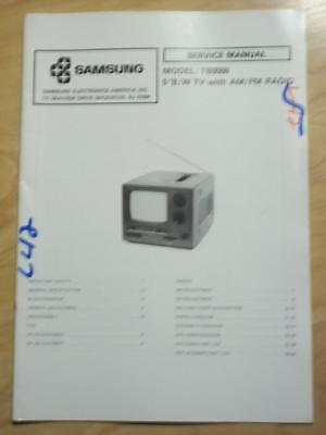 Samsung Service Manual for the TB0550 TV Radio   mp Samsung Tv Service Manual