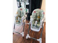 Mamas papas snax kids highchairs x2 good condition
