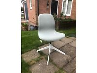 Ikea Langfjäll Swivel Desk Chair - grey/white