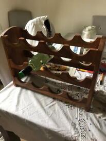 Wooden carved wine rack