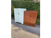 Pair of Vintage Storage cupboards/Wardrobe