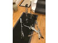 assorted drum stands for drum kit / drums