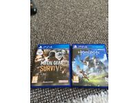 Metal gear survive and horizon zero dawn PS4 for sale