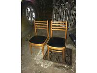Pair of wood chairs