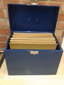 Small portable filing case - DELIVERY AVAILABLE