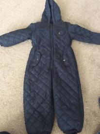 Boys age 2-3 all in one quilted suit