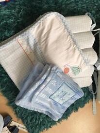 Crib quilt and bumper