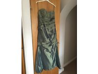 Bridesmaids Dress, Size 10, Vintage green/gold