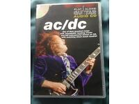 AC/DC guitar play along CD and sheet music book