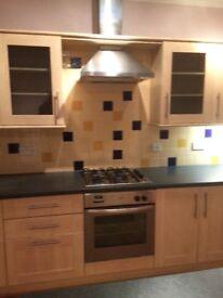 Large range of shaker style kitchen units.