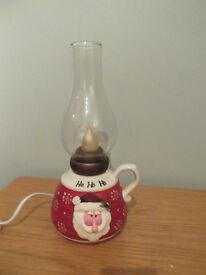 Novelty Ho Ho Ho Santa lamp