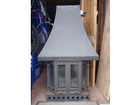 Dovre 2000 Multi-Fuel Fireplace 7kw with Canopy and Plinth