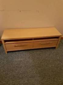 Next Oak Veneer TV unit with drawers