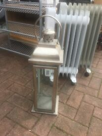 Steel/glass Candle holder indoor or outdoor