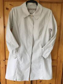 M&S Per Una 100% heavy cotton cream coat. Size M (approx 12-14). For Summer or Autumn! £7 ovno