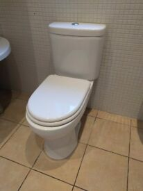 White bathroom suite, used but in good condition