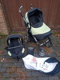 Silvercross 3D pram/pushchair with car seat