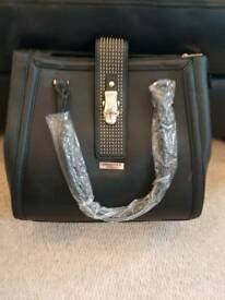 Black leather ted baker tote bag