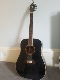 Black Washburn Guitar