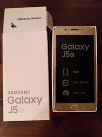 Samsung Galaxy J5 6, GOLD, 16GB, Brand New