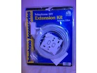 Telephone Extension Kit, approx 15 meters with wall fixings