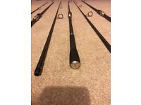3 x Century NG+ 12ft 3.5 T/C carp fishing rods - great condition