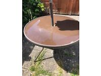 Free Glass brown garden table !