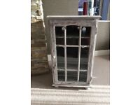 **Lovely Distressed Glass Display Cabinet**