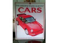 CHILDREN'S EDUCATIONAL BOOK - THE USBORNE YOUNG SCIENTIST - CARS - VINTAGE 1991 EDITION