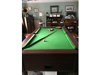 large pool table for sale £450 ono (uplift only)