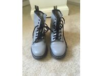 Grey Dr Martin boots