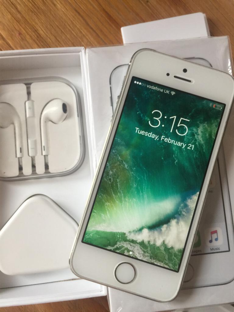 New iPhone 5s 16gb talk mobile Vodafonein Carlton, NottinghamshireGumtree - IPhone 5s 16gb Not even 3 months old 9 months Apple warranty Box charger headphones Full working orderExcellent condition Talk mobile Vodafone £120 no offers please possible delivery or collection from Carlton