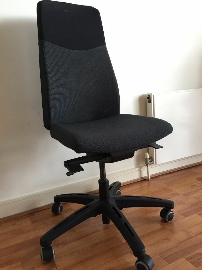 Ikea volmar swivel office chair dark grey in canary for Ikea office desk chair