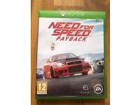 Need for speed payback , Xbox one , as new ! Price stands , no offers !