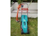 Bosch lawnmower and Flymo strimmer