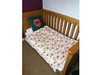 Mamas & Papas Ocean Solid Oak Cot Bed/Great condition