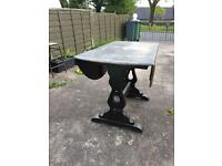 Old Charm Oval Folding D Table