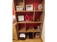 wooden bookcase nice piece with 8 shelves