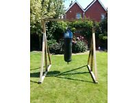 Punch Bag and Frame for Outdoor or Indoor Use