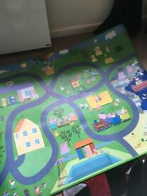 Kids pepper pig play mat