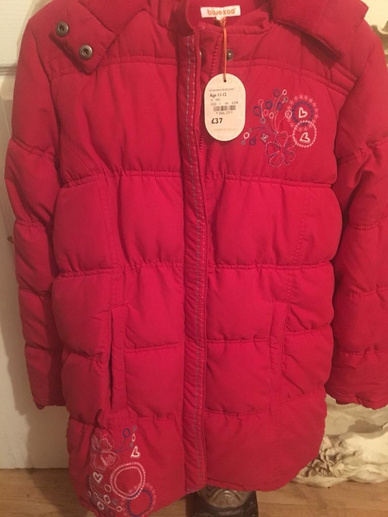 Girls Red Padded coat